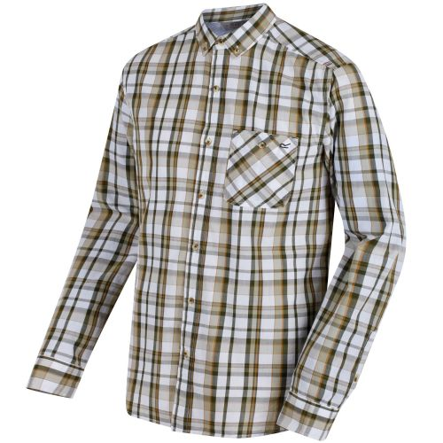 Regatta - BACCHUS COOLWEAVE LONG SLEEVE SHIRT  - Ivy Green Check